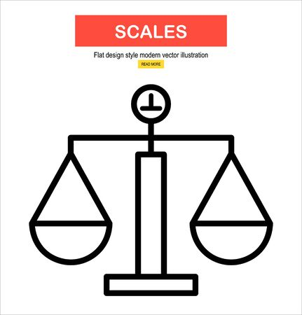 scales icon, vector.
