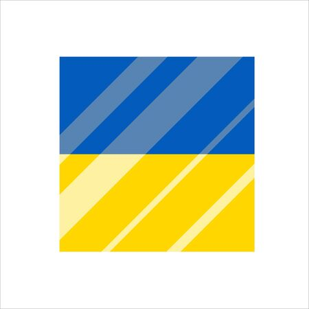 Ukraine flag, National Ukraine flag. Flat vector illustration.