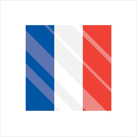 France flag. National France flag. Flat vector illustration.