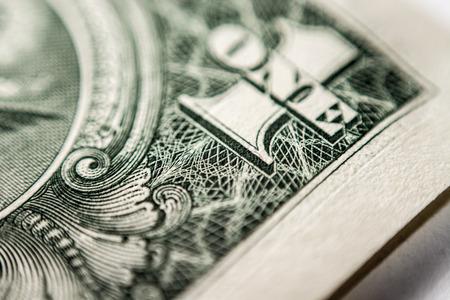 super macro: us dollar bill, super macro