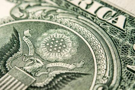 one dollar: one dollar bill, super macro