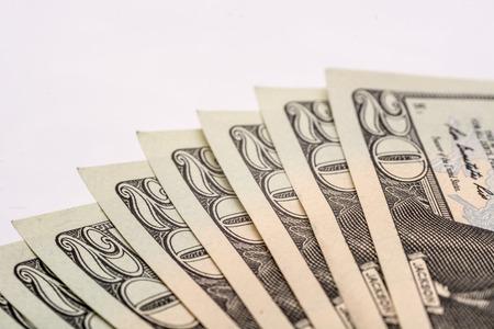 veer: US dollar bills, veer of cash Stock Photo