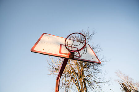 grundge: Basketball hoop Stock Photo