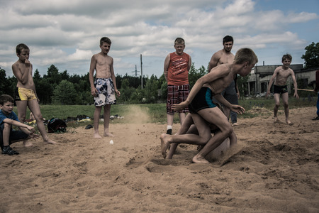 grapple: Beach Wrestling championships. Kids nad juniors.