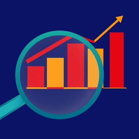 Business analysis, analytics, analysis tools, vector illustration