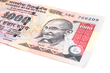 A one thousand rupee note  Indian Currency    Stock Photo