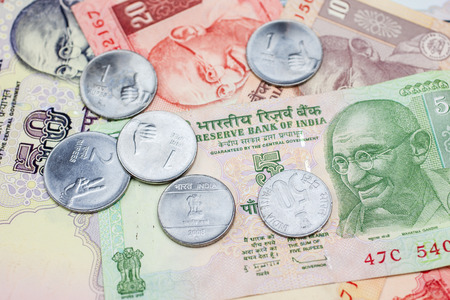 Small bills and loose change in Indian Rupees