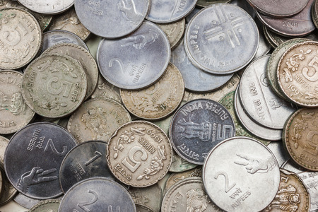 A pile of loose change  India Rupees