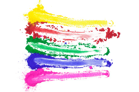 A spectrum of painted colors.