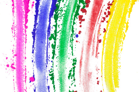 smeared: A spectrum of painted colors.