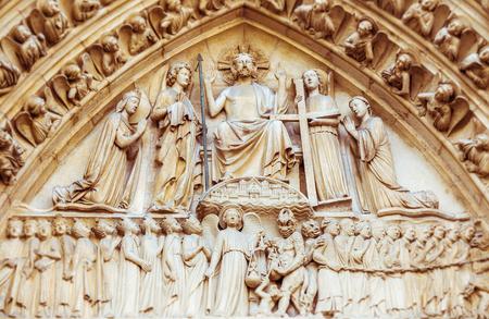 A Detail at Notre Dame, Paris Stock Photo