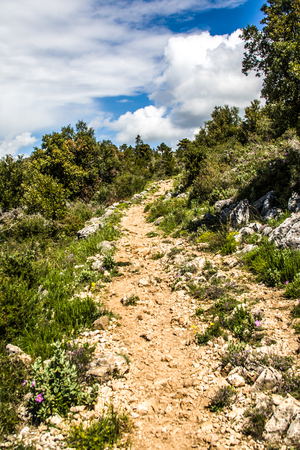 A path in the French Alps Stock Photo