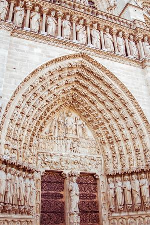A door at Notre Dame Cathedral, Paris
