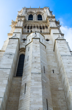 One of the towers at Notre Dame, Paris Stock Photo