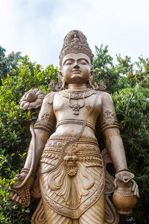 A statue of Maitreya, the future Buddha, at the Kelaniya temple in Sri Lanka.