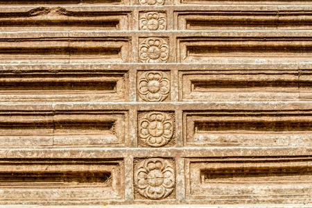 A flight of stone steps at the Kelaniya temple in Sri Lanka.