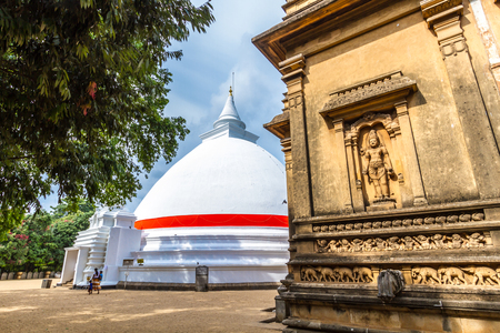 Kelaniya, Sri Lanka, May 8th  2016 - A Buddhist Stupa. Stock Photo