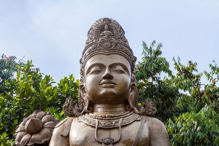 A statue of maitreya, the future Buddha, in Kelaniya, Sri Lanka.