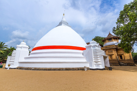 The stupa at the Buddhist temple of Kelaniya, Sri Lanka.