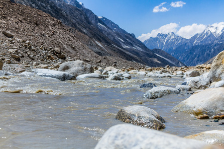 The source of the Ganges river in Uttarakhand India.