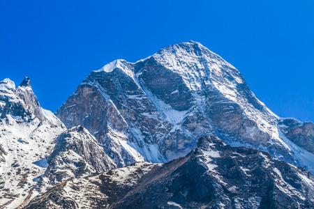 Mountain peak in the Himalayas - Uttarakhand, India.