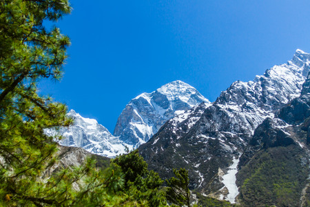 Mountain peak in the Indian Himalayas - visible on the trek to Gaumukh the source of the Ganges.