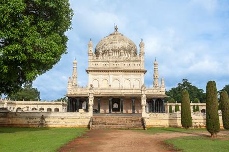 The tomb of the Tippu Sultan on the island of Srirangapatna, India.