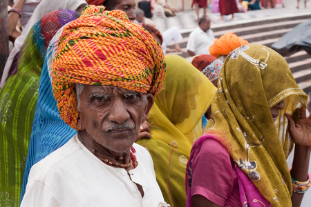 HARIDWAR, INDIA - CIRCA APRIL 2010 - Hindu Pilgrim attending the  Ardha Kumbha Mela circa April 2010 in Haridwar.