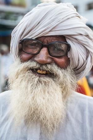 HARIDWAR, INDIA - AUG 9 - A Hindu pilgrim attends a spiritual festival in Haridwar on August 9th 2010 at Haridwar, India.