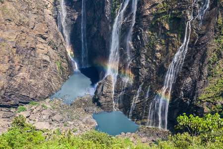 joga: Jog or Joga falls in India. A wonder of nature falling over 800 feet into the reservoir below. It is the fifth tallest waterfall in all of Asia.