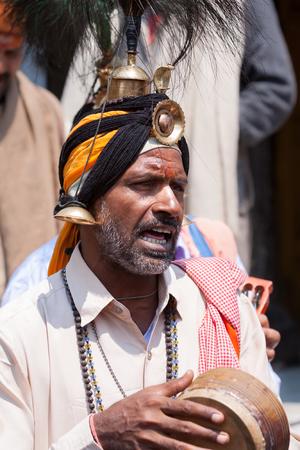 sadhu: KEDARNATH, INDIA - JUNE 1 - 2013: A sadhu of the Jangama Hindu sect in Kedarnath