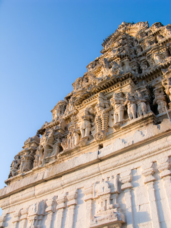 dome of hindu temple: A temple in Melkote, South India