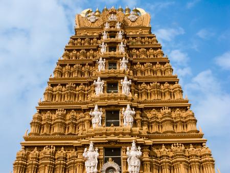 The gopuram tower at the famous temple of Srikanthesvara at Nanjangud, South India.