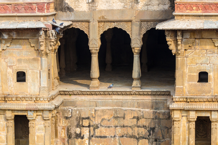 abhaneri: Alcoves at the Chand Baori Stepwell in Abhaneri, Rajasthan, India.