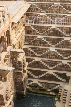 baori: The Chand Baori Stepwell in the Rajasthani village of Abhaneri, North India.