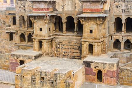 baori: Alcoves at the Chand Baori Stepwell in Abhaneri, Rajasthan, India.
