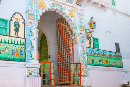 The entrance of a haveli in Jodhpur, India.