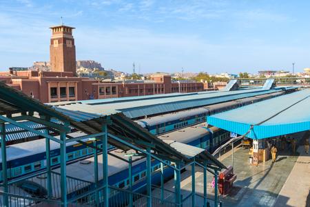 18th: Jodhpur, India,18th January 2017 - a railway station in Jodhpur, India.
