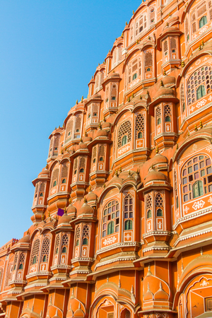 dome of the rock: Hawa Mahal - Palace of the Winds, Jaipur, India.