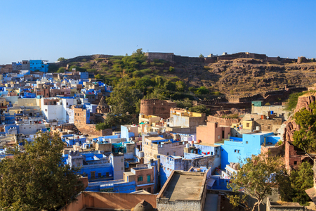 The blue city of Jodhpur, India.