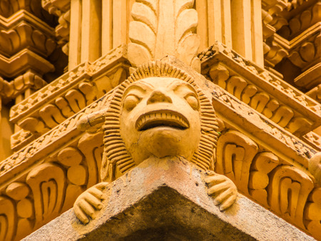 A detail on the gopuram tower at the famous temple of Srikanthesvara at Nanjangud, South India.