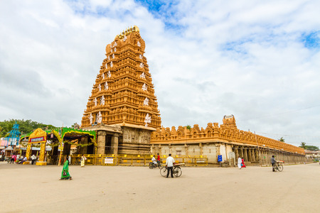 Nanjangud, India, 4th July 2017 - The Srikantheswara Temple in South India.