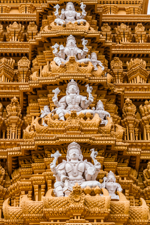 The gopuram tower at the famous temple of Srikanthesvara at Nanjangud, South India.