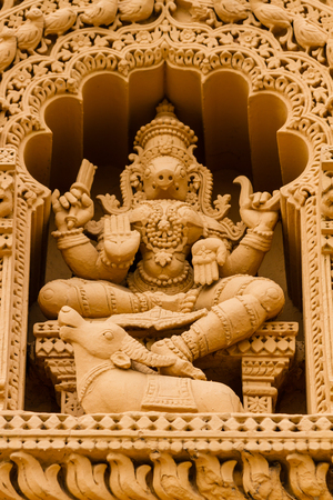 A sculpture of the Hindu Goddess Varahi at the temple of Srikantheswara in Nanjangud, South India.