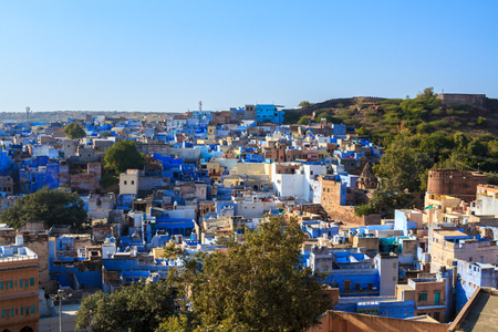 The blue city of Jodhpur, India. Stock Photo - 83124679