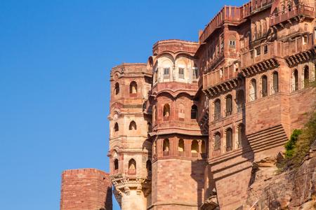 Mehrangarh Fort in Jodhpur, India.
