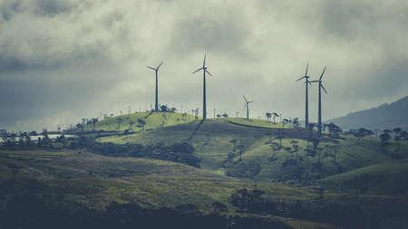 Beautiful view of wind turbines near Nuwara eliya, Sri Lanka Standard-Bild