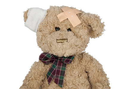 doctoring: teddy cut Stock Photo
