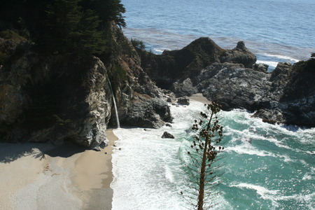 burns: Julia Pfeiffer Burns State Park Stock Photo