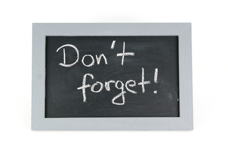 not forget: blackboard do not forget Stock Photo